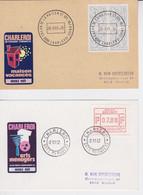Charleroi Maison Vacances 1981 Et Arts Ménagers 1982 Vifgnettes - Commemorative Labels