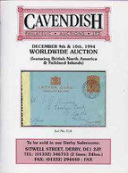 Auction Catalogue - WW1 & WW2 Undercover Mail - Cavendish 9-10 Dec 1994 - Worldwide Incl The Dave Birtwell - Other