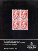 Auction Catalogue - United States - Christie's NY 3 Nov 1988 - The Walter C Klein Coll Part 3 - With Prices Realised - Other