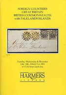 Auction Catalogue - Falkland Islands - Harmers 19-21 July 1994 - Incl The E J Andrews Coll - With Prices Realised - Other