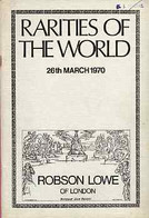 Auction Catalogue - World - Robson Lowe 26 Mar 1970 - Rarities - With Prices Realised - Other