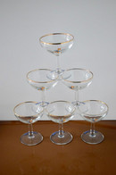 Rare Ensemble De 6 Coupes à Champagne Babycham - Le Petit Chamois Est De Couleur Feu - 10 Cm - Très Bon état - Glasses