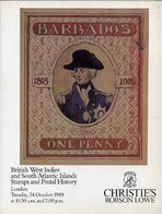 Auction Catalogue - British West Indies & South Atlantics - Christie's Robson Lowe 24 Oct 1989 Prices Realised - Other