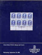 Auction Catalogue - United States  Proofs, Stamps & Covers - Christie's Robson Lowe 28 Sept 1988 Prices - Other