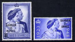 Bahrain 1948 KG6 Royal Silver Wedding Set Of 2 U/m SG 61-62 - Bahrain (...-1965)