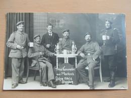 CARTE PHOTO SOLDATS ALLEMAND STRASBOURG - MARKIRCH - 1914/15 - Guerra 1914-18