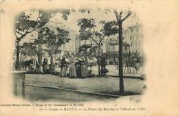 CORSE  BASTIA  La Place Du Marché   (édit Ancienne Maison Fabiani ,C.Piaggi Et Cie ) - Sonstige Gemeinden