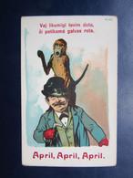 Old April Fools  Day  Postcard  / Latvia  1930s (2) - Lettonia