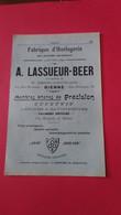 Vieux Papiers A Lassueur -beer Bienne Suisse 1914 - Switzerland