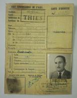 Carte Identité - 1955 - HAUT COMMISSARIAT DE L'A.O.F - Sénégal Thies - Documentos Históricos