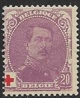 Belgium  1914  Sc#B27  20c Albert   MH    2016 Scott Value $15 - 1918 Red Cross