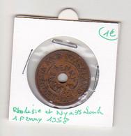 Rhodesie Et Nyasaland 1 Penny 1958 - Rhodesia