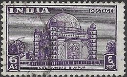 INDIA 1949 Gol Gumbad, Bijapur - 6a - Violet FU - Used Stamps