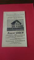 Vieux Papiers Robert Giger Bienne Suisse 1914 - Switzerland