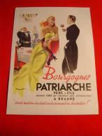 AFFICHETTE PUBLICITAIRE / VIN / BOURGOGNE DU PATRIARCHE  / 1951 / TRES BEL ETAT - Alcools