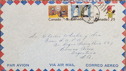 A) 1970, CANADA, CHRISTMAS, LETTER SHIPPED TO BUENOS AIRES – ARGENTINA, AIRMAIL, CARTOON, XF - Cartas