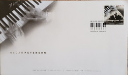 A) 2005, CANADA, MUSIC, MONTREAL, FDC, OSCAR PETERSON JAZZ COMPOSER AND PIANIST, XF - Cartas