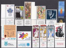 Israel - Jahrgang 1973 - Komplett Postfrisch MNH Mit Tab + Block 10 - Nuevos (con Tab)