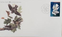 A) 2003, CANADA, GERIFALTE HAWK, FDC, BIRD. SPECIES DRAWN BY JOHN JAMES, XF - Cartas