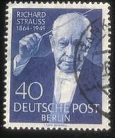 Deutsche Post - Berlin -  A1/32 - (°)used - 1954 - Michel 124 - Richard Strauss - Oblitérés