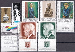 Israel - Jahrgang 1974 - Komplett Postfrisch MNH Mit Tab Incl. Block 11-13 - Nuevos (con Tab)