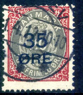 1912 DANIMARCA N.63 USATO Firmato - Gebraucht