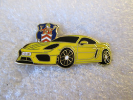 TOP   PIN'S    PORSCHE  718  CAÏMAN  GT 4   Email De Synthèse - Porsche
