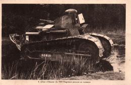 Char D'Assaut Du 505e Régiment Passant Un Ruisseau - Edition Nozais - Carte N° 4 Non Circulée - Materiale