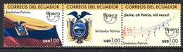 Equateur Ecuador 2259/61 UPAEP, Hymne, Musique, Drapeau, Armoiries - Emissioni Congiunte