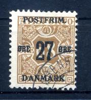 1918 DANIMARCA N.92 USATO (giornali Del 1907) - Gebruikt
