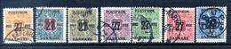 1918 DANIMARCA N.95+96+97+98+99+101+104 USATI - Used Stamps