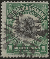 PANAMA CANAL ZONE 1909-10 1c SC# 31 USED VACO NUÑEZ DE BALBOA - Panama