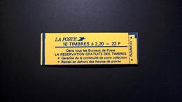 Carnet 2376 C 11 Type Liberté 10 X 2,20 FF Conf N°9 N°90851 Carnet NON OUVERT TB Bon Etat - Definitives
