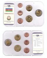 Azerbaijan - Set 6 Coins 1 3 5 10 20 50 Qapik 2006 UNC In A Seal Lemberg-Zp - Azerbaïjan
