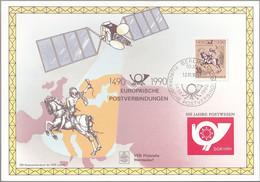 DDR 1990 Mi-Nr. 3299 Auf Gedenkblatt Europäische Postverbindungen - FDC: Ersttagsblätter
