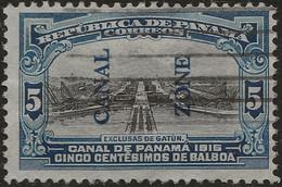 PANAMA CANAL ZONE 1915 Sc#44 5c Used - Panama
