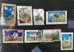 (stamps 4-5-2021) Fiji Selection 8 Used Stamps On Paper - - Fiji (1970-...)