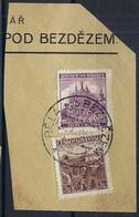 BOHEME ET MORAVIE 1939: Le ZNr.309 De Tchékoslovaquie Et ZNr. 31 De Bohème & Moravie Sur Le Même Fragment - Usati