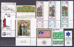 Israel - Jahrgang 1976 - Komplett Postfrisch MNH Mit Tab Incl. Block 14 + 15 - Nuevos (con Tab)