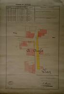 Plan Du Géomètre Officiel J. Demartin 1912,  Avenue De Loës - Rue Plantour, AIGLE - Travaux Publics