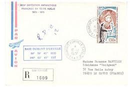 TAAF TERRE ADELIE   16 12 1974 - Cartas