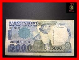 MADAGASCAR  5.000  5000  Francs  1988  P. 73   VF - Madagascar