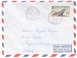 TAAF KERGUELEN 24 12 1962 AVEC N° 16 - Cartas
