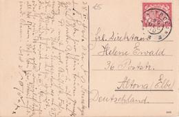 INDES NEERLANDAISES 1910 CARTE POSTALE POUR ALTONA - Netherlands Indies