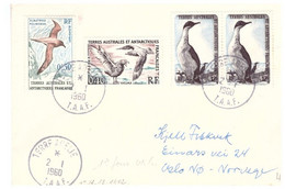 TAAF TERRE ADELIE 02 01 1960 - Cartas