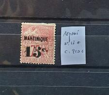05 - 21 - Martinique N° 18 * Réparé - Cote : 210 Euros - Unused Stamps