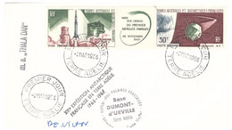 TAAF TERRE ADELIE 02 03 1965  1ER JOUR PA 11A SIGNEE PE VICTOR - Cartas