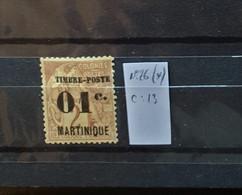 05 - 21 - Martinique N° 26 (*) - No Gum  - Cote : 13 Euros - Unused Stamps