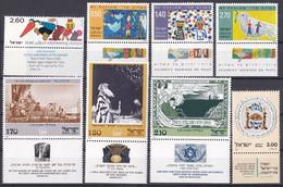 Israel - Jahrgang 1977 - Komplett Postfrisch MNH Mit Tab Incl. Block 16 - Nuevos (con Tab)