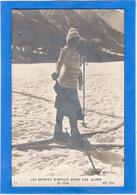 """SPORTS D'HIVER - Dans Les Alpes """"le Skiss"""" (?)  Voir Description - Winter Sports"""